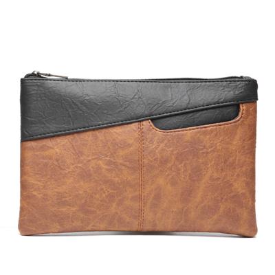 Men's Korean Fashion Trend Retro Leather Flip Envelope Handbag