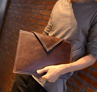 Envelope Short Leather Men Wallet