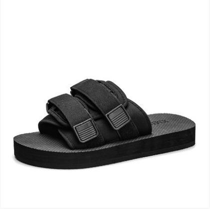 Men\'s Fashion Youth Trend Drag Style Non Slip Mesh Summer Slipper