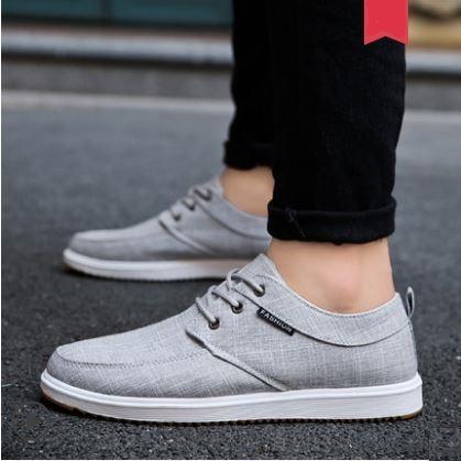 Men's Fashion Trend Wild Style Low Cut Lace Up Canvas Sneakers Plus Size
