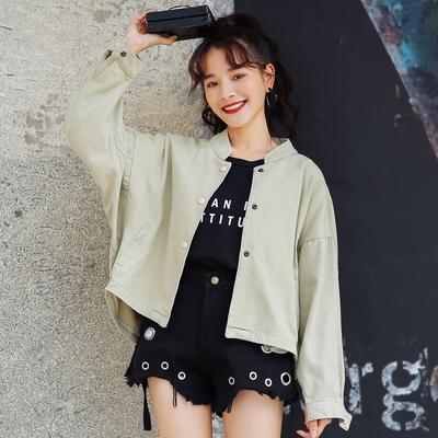 Women Korean Fashion Wild Style  Loose Long Sleeve Baseball Jacket