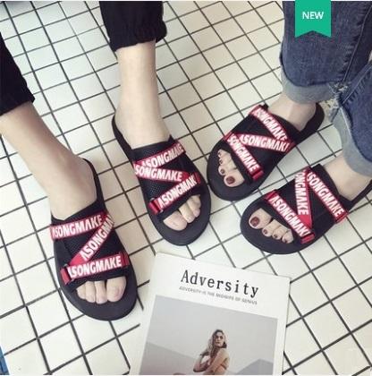 Men\'s Fashion Trend Wild Style Non Slip Beach Side Fashion Slippers