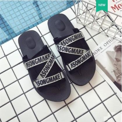 Men's Fashion Trend Wild Style Non Slip Beach Side Fashion Slippers