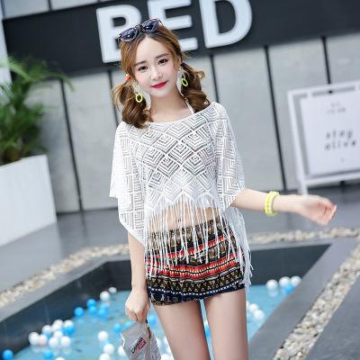 Women Korean Fashion 3 Piece Blouse Bikini Skirt Type Sexy Swimwear