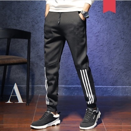 Men\'s Korean Youth Fashion Micro Elastic Slim Sports Trouser