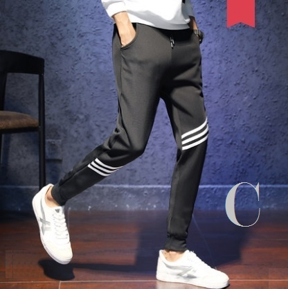 Men's Korean Youth Fashion Micro Elastic Slim Sports Trouser