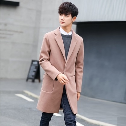 Men Korean Trend Wild Style Slim Fit Thick Fashionable Jacket
