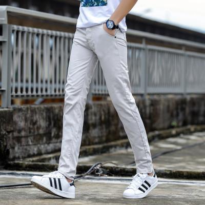 Men Korean Fashion Trend Colored Summer Slim Fit Trousser