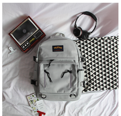 Men's Korean Fashion Large Capacity Harajuku Style School Backpack
