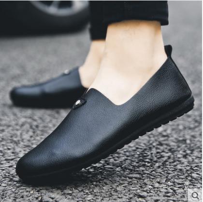 Men\'s Korean New Trend Casual Round Head Peas Shoes