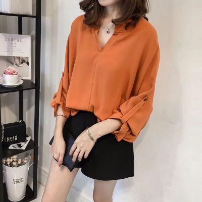 Women Korean Fashion  Super Fairy Long Sleeve Chiffon Shirt