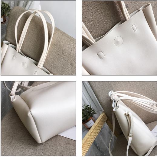Women New Fashion Large Capacity Leather Tote Bag