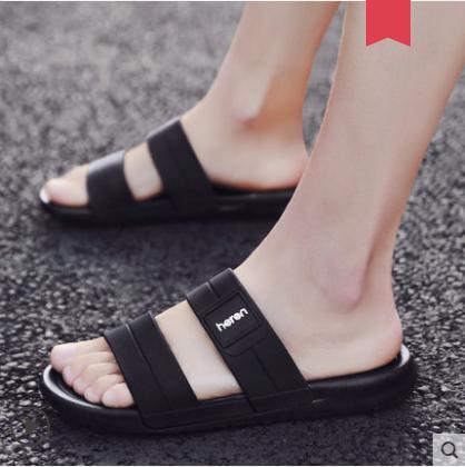 Men\'s Korean New Trend Wild Style Summer Beach  Plastic Slippers