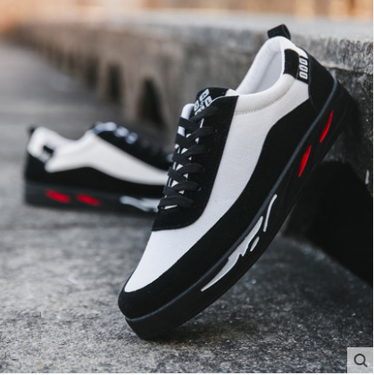 Men's Korean Youth Trend Wild Style Running Lace up Sports Shoes