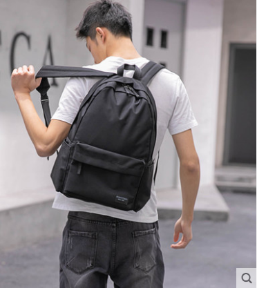 Men Korean College Fashion  Large Inter layer Soft Zipper Backpack