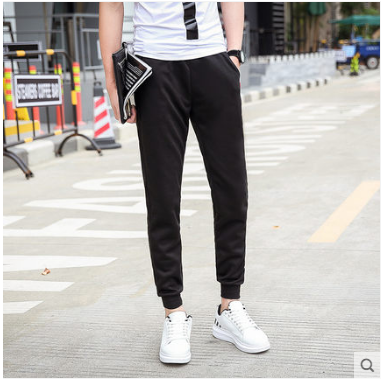 Men Korean Youth Fashion Wild Style Casual Summer Slim Trousers