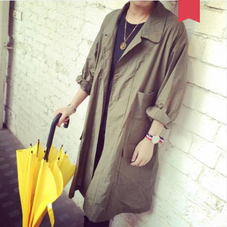 Men Korean Youth Trend New Summer  Long Sleeved Fashion Wild Jacket