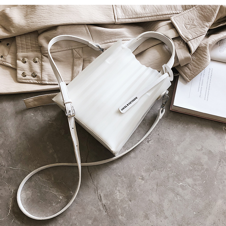 Women Korean Fashion  Wild Style Jelly Striped Messenger Shoulder Bag