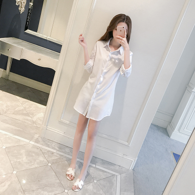 Women  Korean Fashion Long Sleeve Chiffon Loose Paragraph Shirt