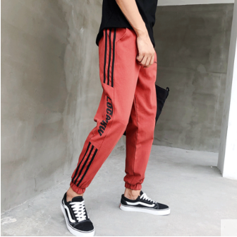 Men Korean Fashion Youth Trendy Harem Slim Feet Casual Trouser