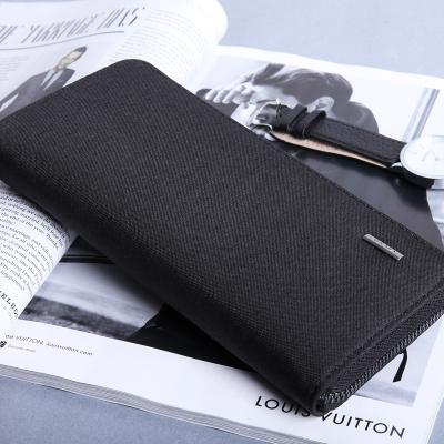 Men Korean Fashion Long Zipper Small Canvas Wallet