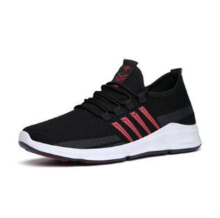 Men Korean Fashion  Street Style Youth Mesh Lace Up Sport Shoes