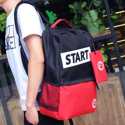 Men School Bag Student Backpack