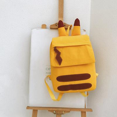 Women Korean Fashion Picachu Cartoon Anime High School Backpack
