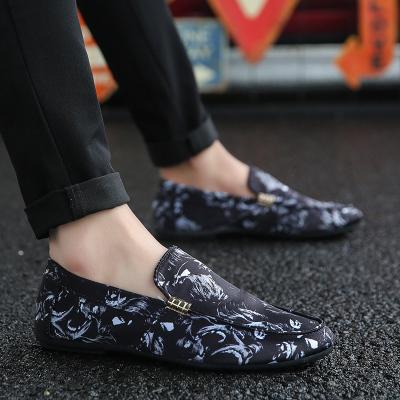 Men Korean Street Fashion Wild Style Color Pattern Peas Shoes