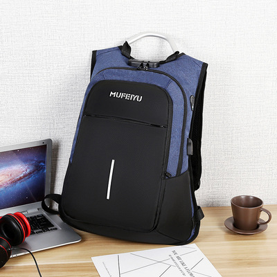 Men Fashion Trend Street Style Anti Theft Large Travel Backpack