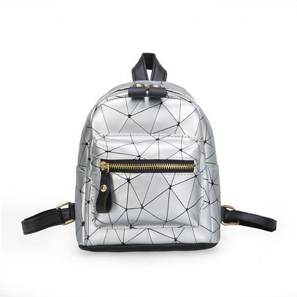 Women Korean Trend New MIni Wild Fashion Geometric Pattern Backpack