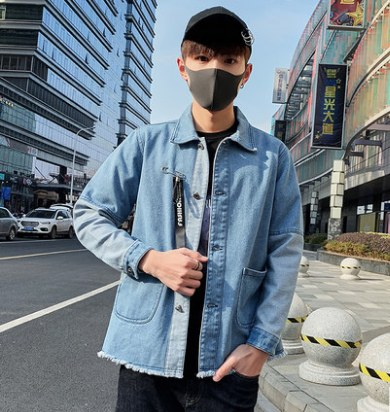 Men Korean Fashion Denim Popular Youth Style Leisure Jacket