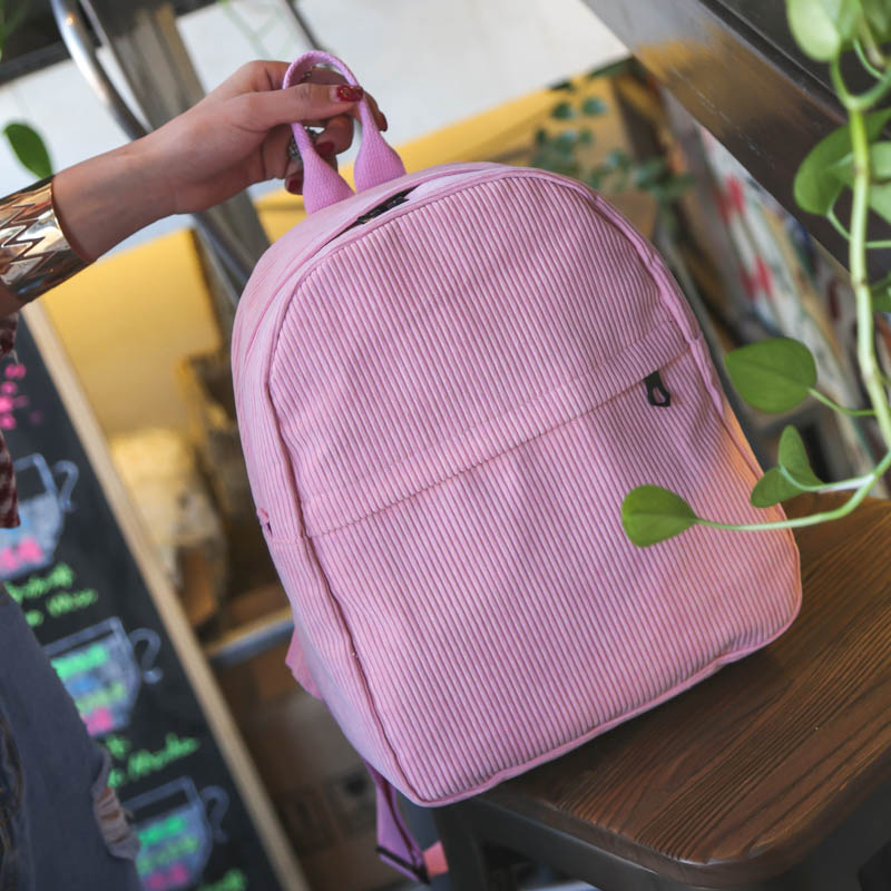 Women Velvet Canvas Casual Fashion Small Backpack