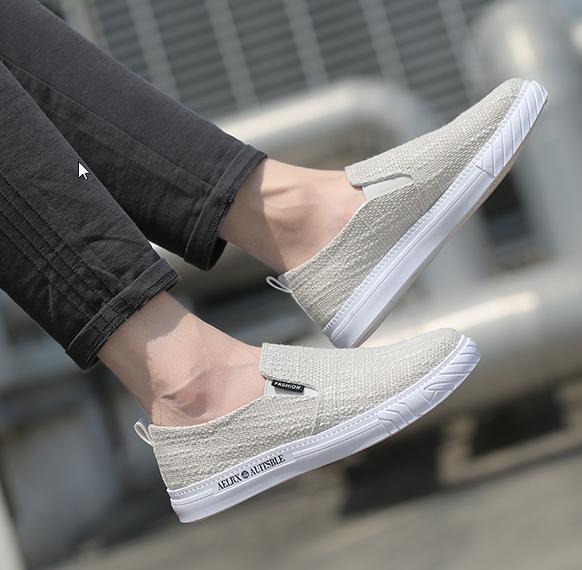 Men Fashion Trendy Casual Linen Canvas Student Shoes