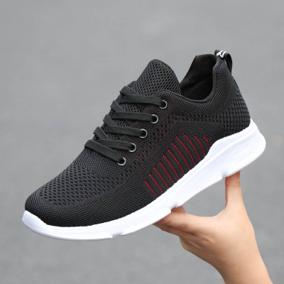 Men Korean Fashion Mesh Casual Breathable Lightweight Running Shoes