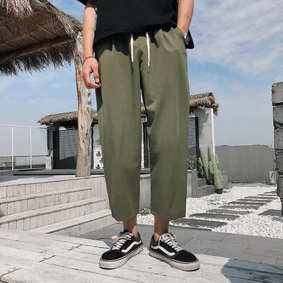 Men Fashion Street Style Thin Loose Casual Wild Style Wide Leg Pants