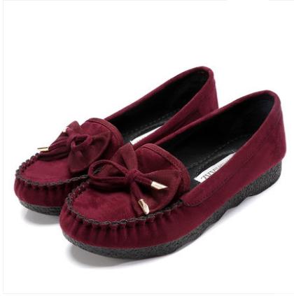 Women Korean Trend Comfortable Cloth Flat Bottom Casual Shoes