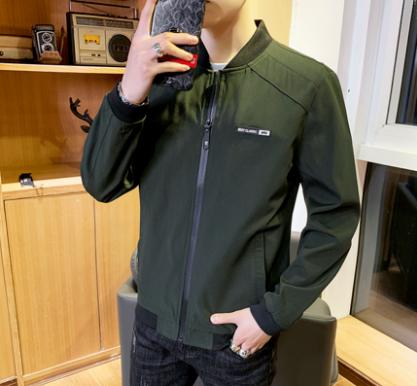 Men Fashion Youth Trend Long Sleeve Loose Wild Style Jacket