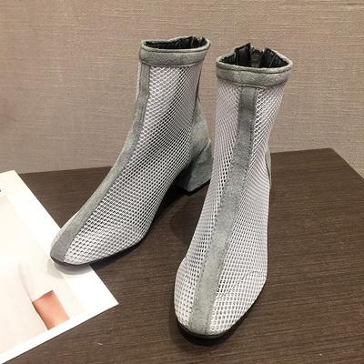 Women Korean Fashion Wild  Breathable Martin Boots