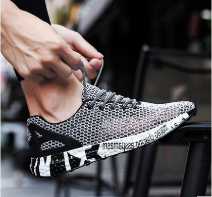Men Korean Fashion Non Slip Breathable Net Style Soft Bottom Sandals