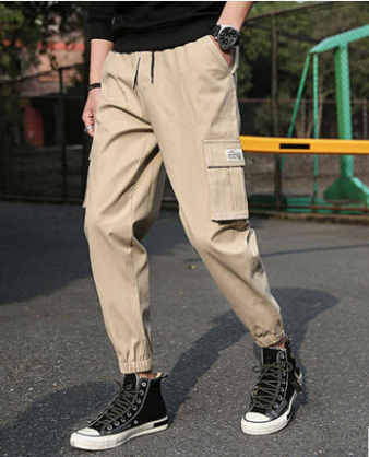 Men Fashion Trendy Street Style Loose Straight Pants