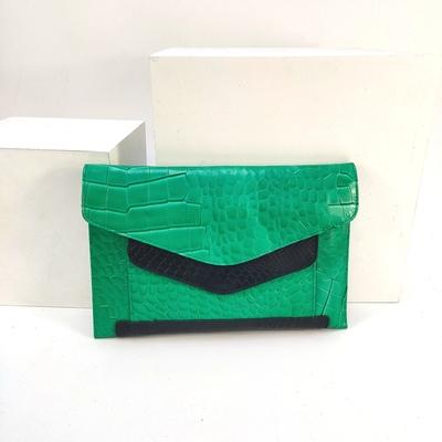 Women American Fashion Crocodile Leather Envelope Bag