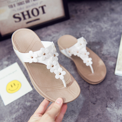 Women New Flip flops Thick Bottom Wedge Sandals Slipper