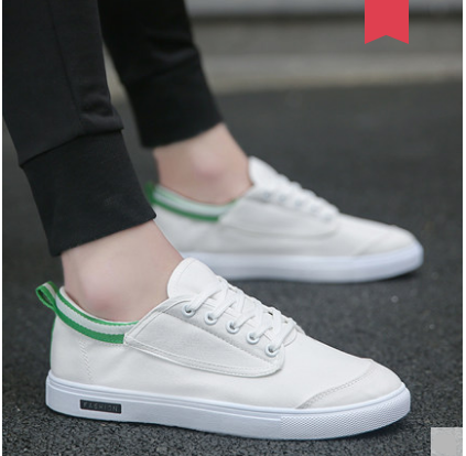 Men  Summer Canvas Beathable Casual Trend Lace Up Shoes