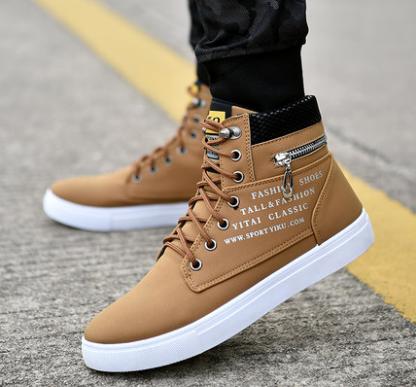 Men Korean Fashion  High Top Trendy Wild Casual  Suede Boots
