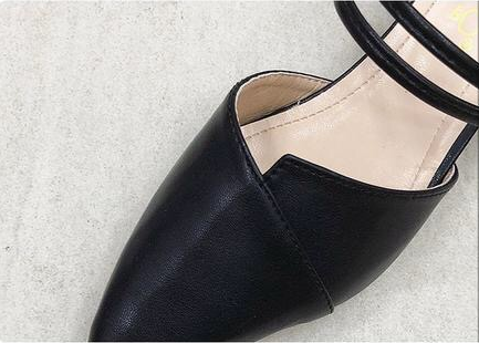 Women Wild Pointed Toe Head Thick Heel Professional Shoes