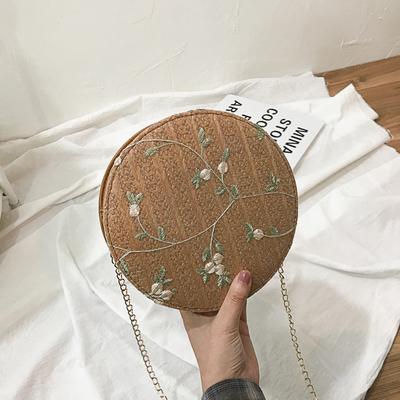 Women Korean Fashion Small Flower Fairy Lace Round Chain Bag
