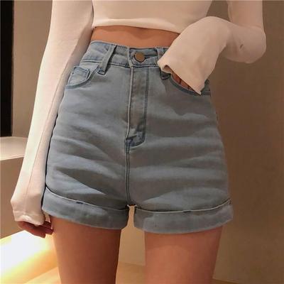 Women Denim Stretch High Waist Summer Hot Bottom Shorts