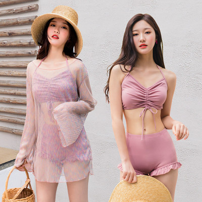 Women Two Piece Swimsuit With Cover Up Sexy Summer Fashion Bikini