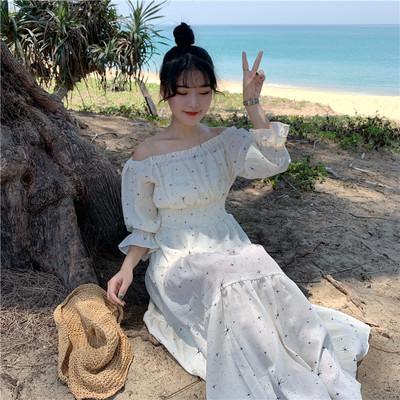 Women Fairy Off Shoulder Long Chiffon Summer Fashion Dress